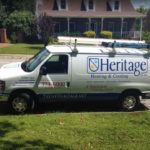 Heritage Heating & Cooling service van
